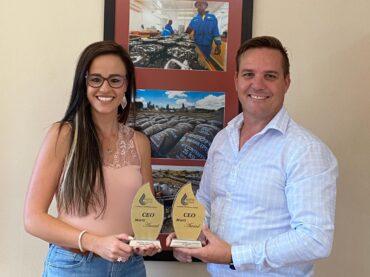 Worthy winners – Melissa-Ann Jew and Eddie Jansen van Vuuren.